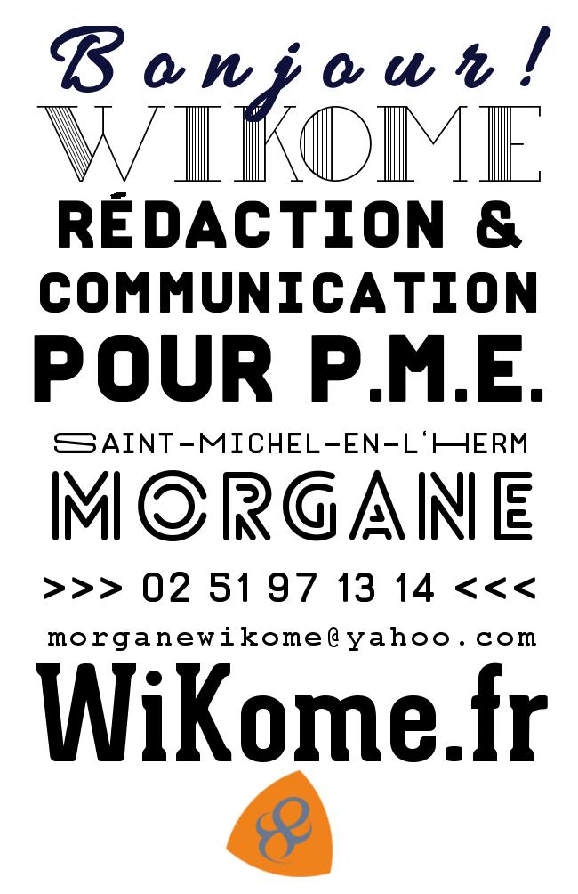 Carte de visite / conception graphique / Wikome