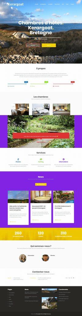 Site internet pour chambres d'hôtes