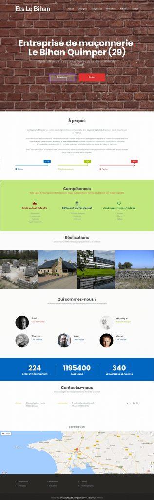 Création de site web pour entreprise de maçonnerie