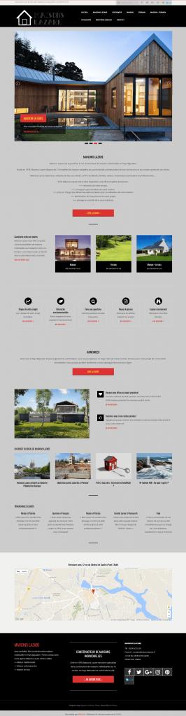 Refonte du site internet d'un constructeur de maisons individuelles
