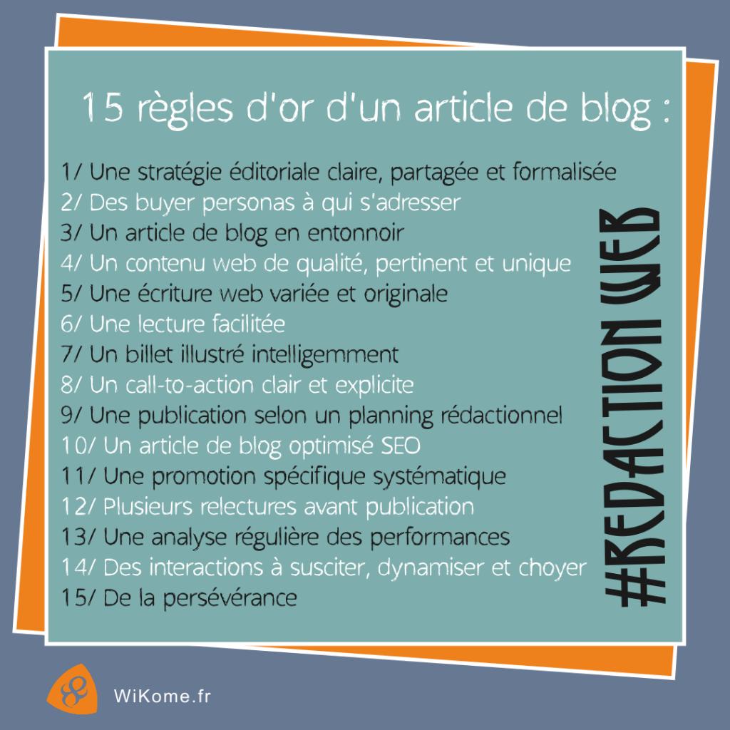 15 bonnes pratiques d'un article de blog