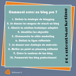 10 étapes pour créer un blog professionnel.